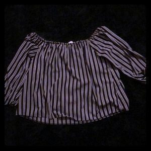 striped  top forever 21, worn  twice 2X